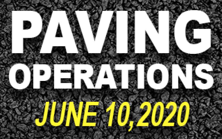 June 10, 2020 Paving Operations