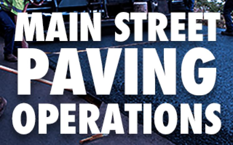 Main Street Paving Operations