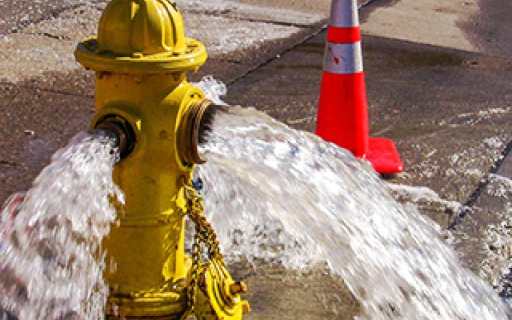Water main flushing process